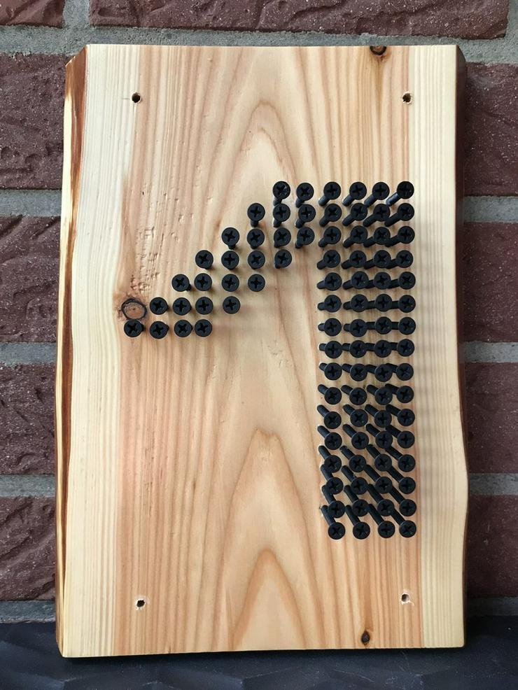 Hausnummer 1 aus Schrauben - Figuren & Objekte - Bild 1