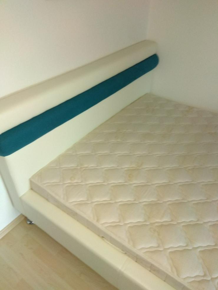 Verkaufe Design-Polsterbett 140x200 Creme-Weiß