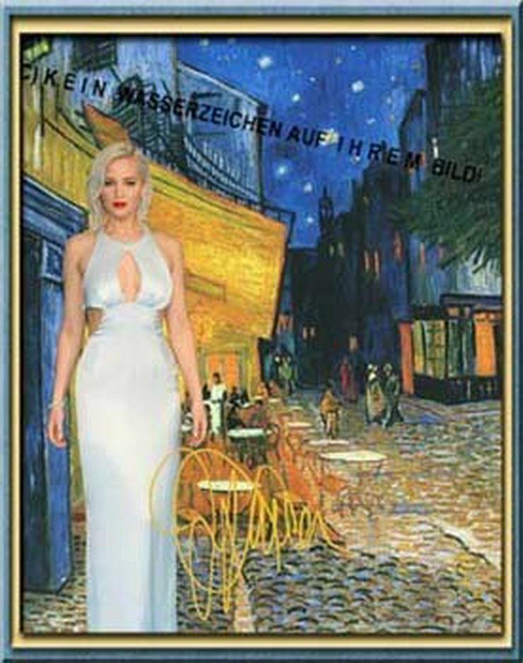 Jennifer Lawrence in van Gogh?s Nachtcafé. NEU!