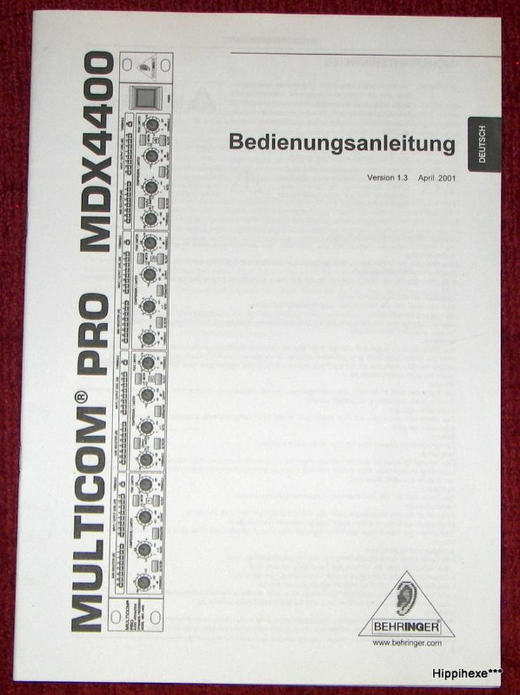 Bild 6: Biete verschiedene Bedienungsanleitungen / User`s Manual in deutsch und weiteren Sprachen