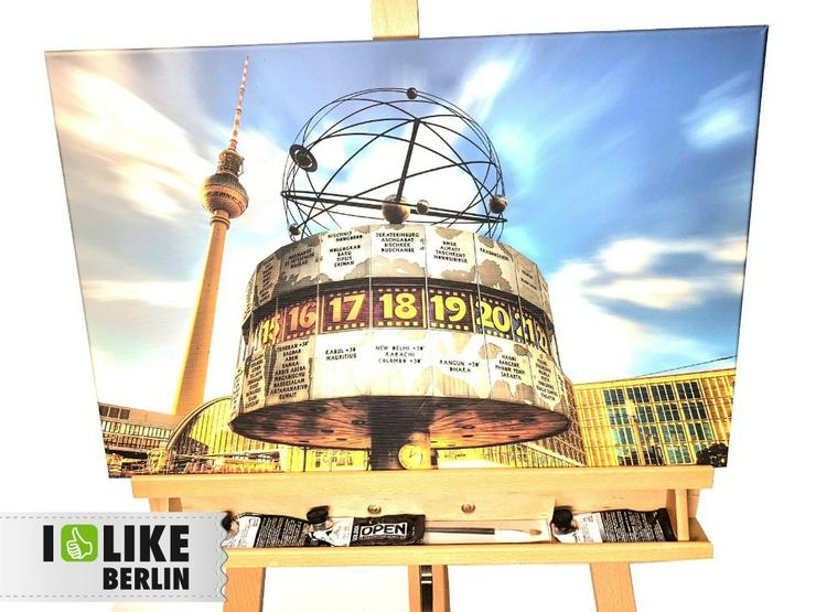 Wandbild I-like-Berlin Weltzeituhr
