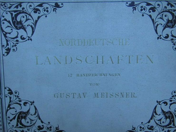 Bild 2: Antike Kunstmappe Norddeutsche Landschaften, 1