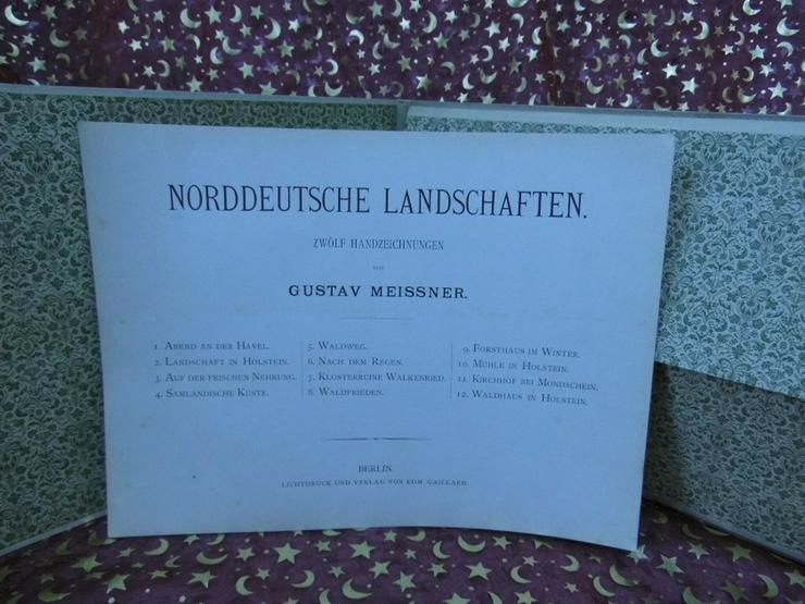 Bild 6: Antike Kunstmappe Norddeutsche Landschaften, 1
