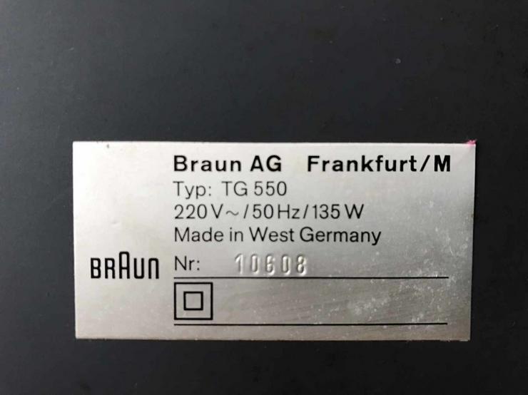 Bild 5: Braun Tonbandgerät TG550