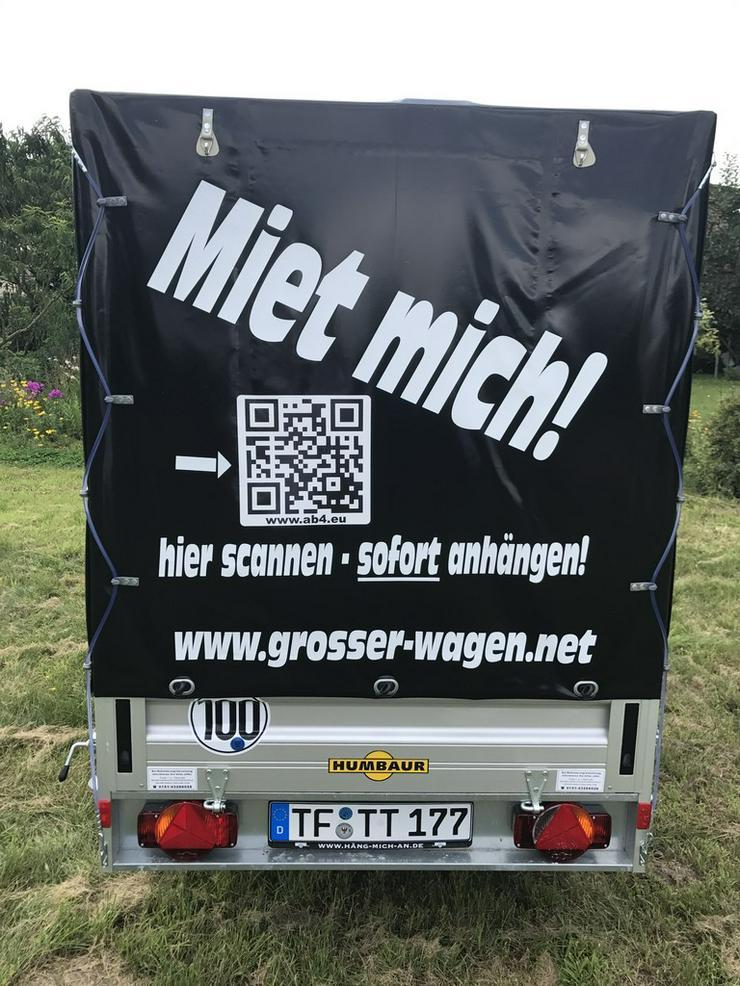 Bild 3: Ulm Anhänger mieten leihen günstig Plane EinWeg
