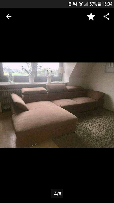 Bild 3: Gepflegtes Eck-Sofa / Couch braun