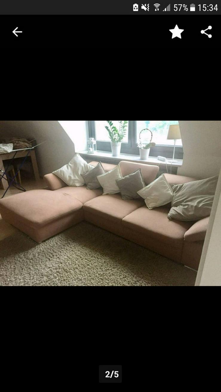 Bild 2: Gepflegtes Eck-Sofa / Couch braun