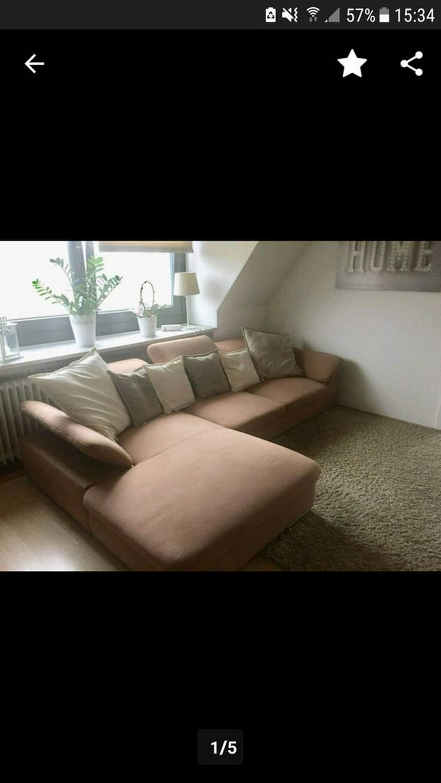 Gepflegtes Eck-Sofa / Couch braun