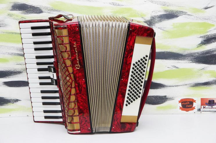 Akkordeon Barcarole 72 Bass rot -- neuwertig - Akkordeons & Harmonikas - Bild 1