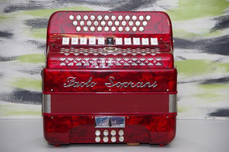 Diantonische Harmonika Paolo Soprani Club IV r - Akkordeons & Harmonikas - Bild 1