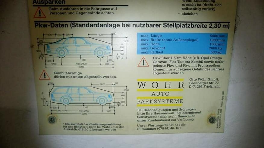Bild 3: Stellplatz Tiefgarage LüDo (Duplex unten)