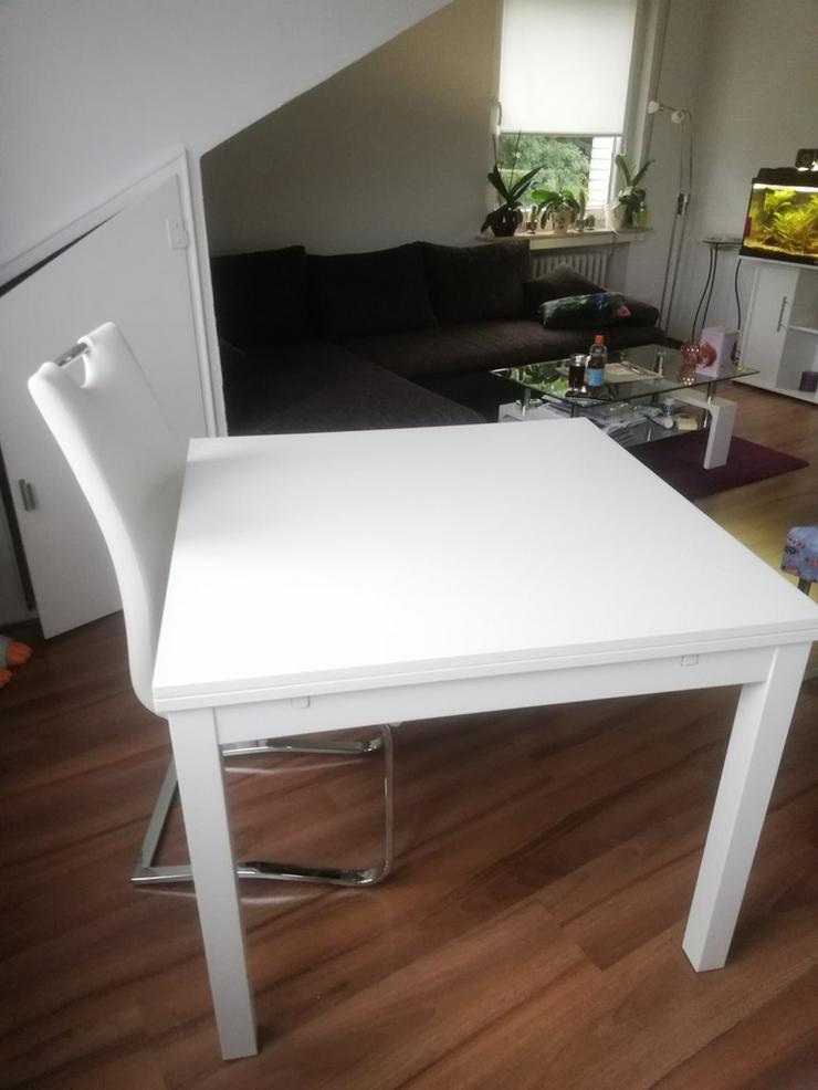 weißer Esstisch zum Ausziehen