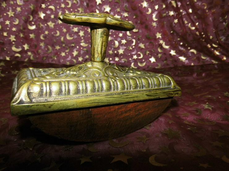 Bild 2: Antiker Tintenlöscher Messing + Holz, Tintenwi