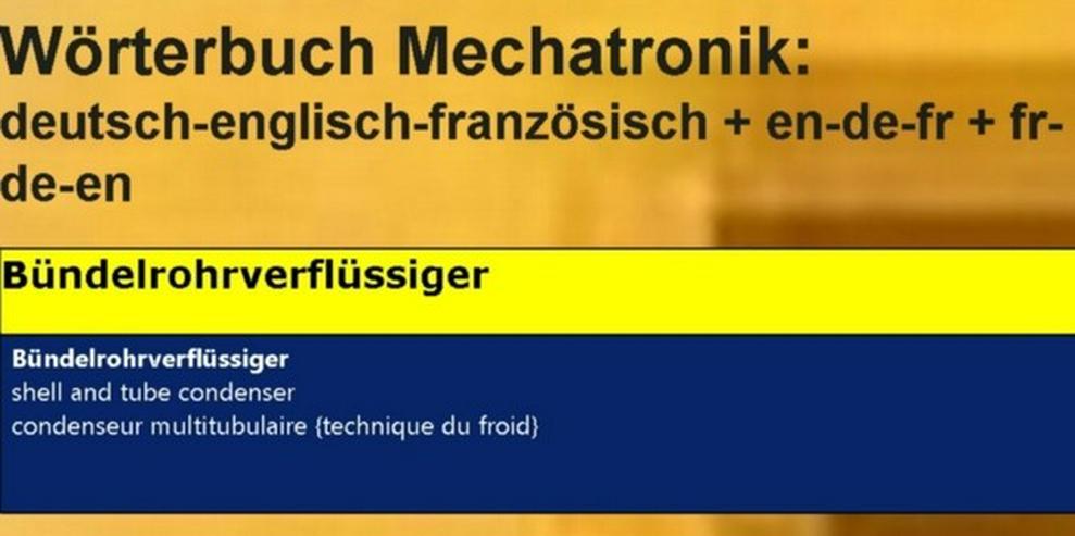 Kältetechnik: englisch französisch uebersetzen - Wörterbücher - Bild 1