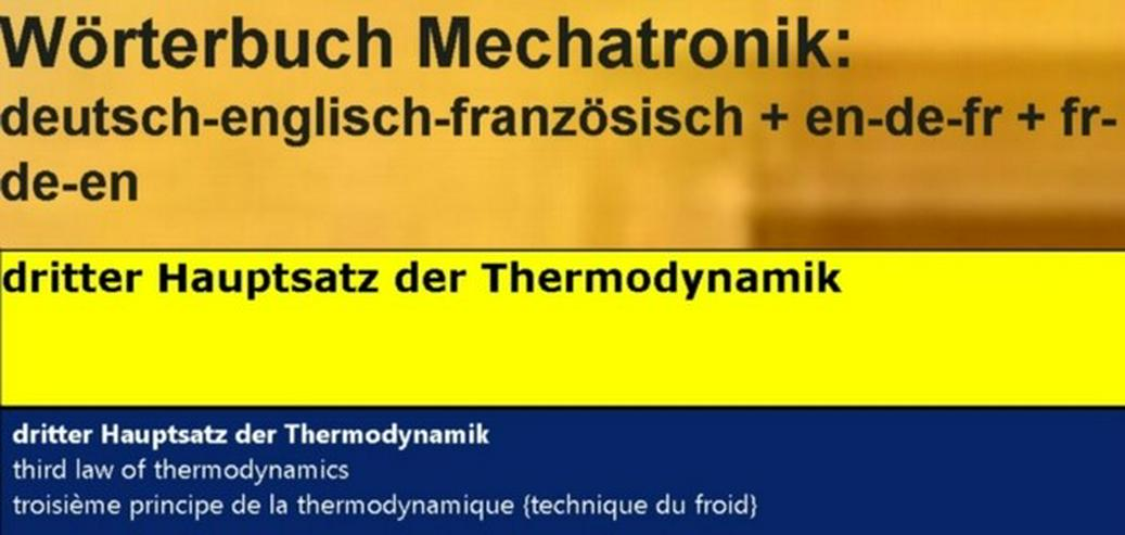 Bild 3: Kältetechnik: englisch französisch uebersetzen