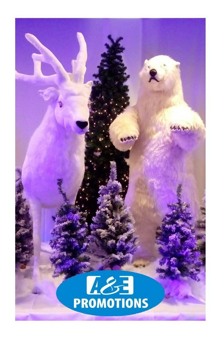 Bild 2: schneegeopard verleih weihnachtfiguren deko