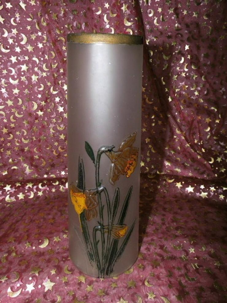 Antike Glas Vase SIV Brevete / Jugendstil / Na