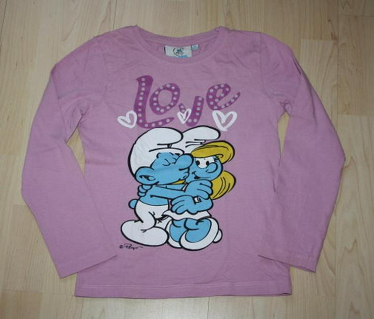 Kinder Langarm Sweatshirt Schlümpfe Mädchen 128 - Größen 122-128 - Bild 1