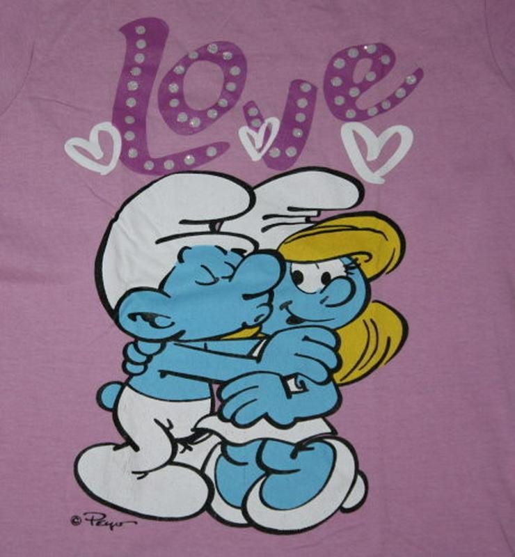 Bild 2: Kinder Langarm Sweatshirt Schlümpfe Mädchen 128
