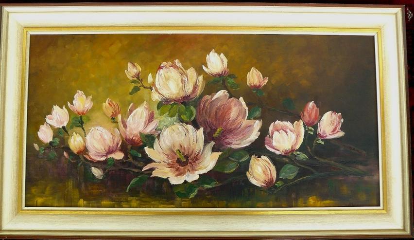 Gemälde R. Winter Magnolien (B062) - Bild 1