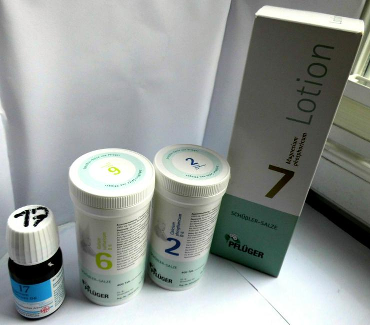Schüssler-Salze & Lotion No. 7, 2, 6 und 17