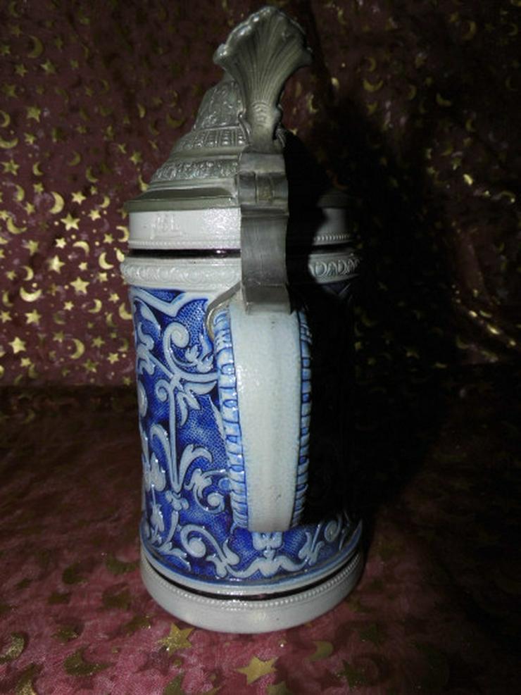 Bild 5: Antiker Bierkrug Steinzeug ca.1900 / feiernde