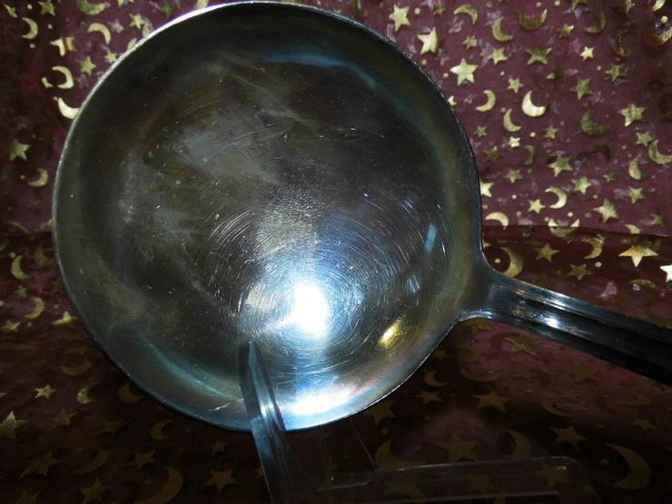 Bild 3: Suppenkelle im antiken Design versilbert / Pun