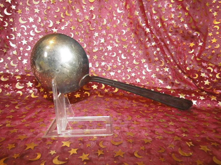 Bild 5: Suppenkelle im antiken Design versilbert / Pun
