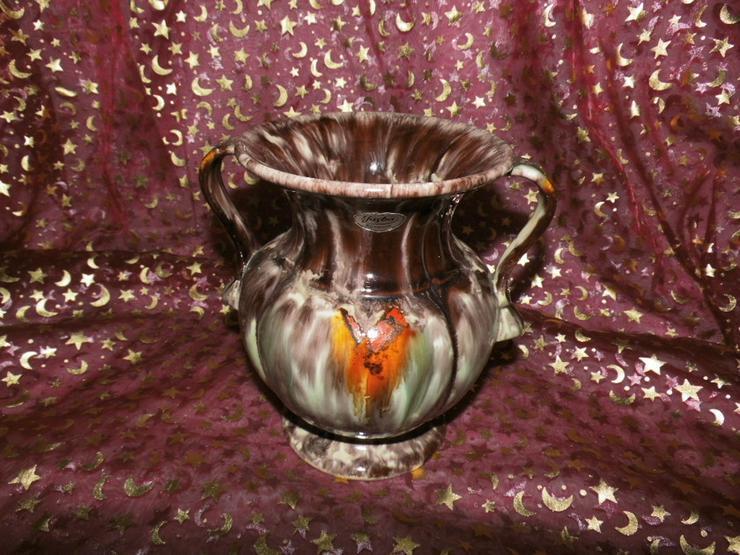 Keramikvase Jasba Keramik um 1970 / geflammt, - Vasen & Kunstpflanzen - Bild 1