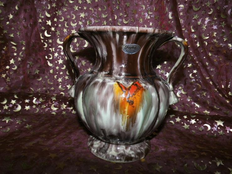 Bild 2: Keramikvase Jasba Keramik um 1970 / geflammt,