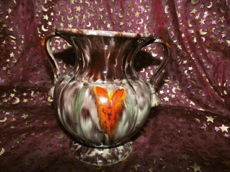 Bild 4: Keramikvase Jasba Keramik um 1970 / geflammt,