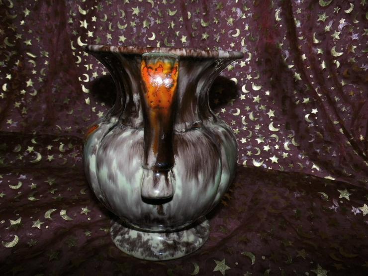 Bild 5: Keramikvase Jasba Keramik um 1970 / geflammt,