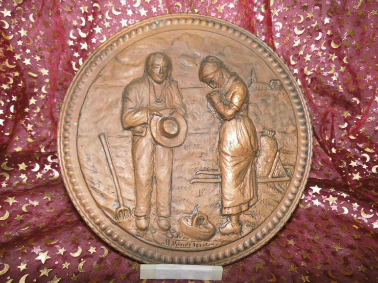Antiker Zierteller aus Kupfer um 1925 / Bild B - Figuren & Objekte - Bild 1