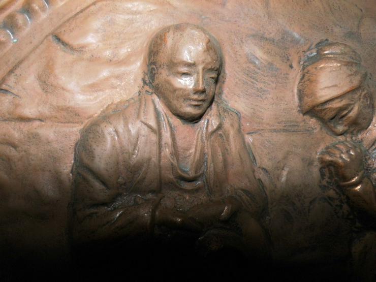 Bild 2: Antiker Zierteller aus Kupfer um 1925 / Bild B