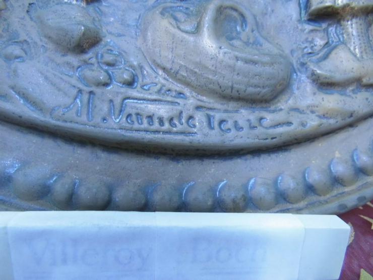 Bild 5: Antiker Zierteller aus Kupfer um 1925 / Bild B