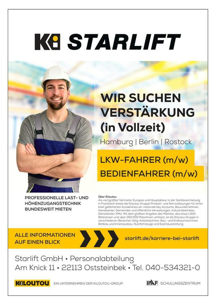 LKW- Kraftfahrer/in / Bedienfahrer/in in Hambug - LKW-Fahrer - Bild 1
