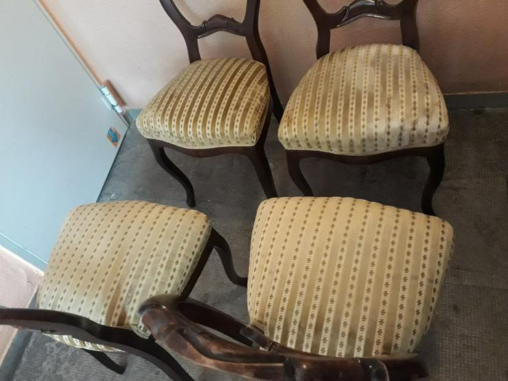 Bild 3: 4 antike Stuhle,nur fur selbstabholung