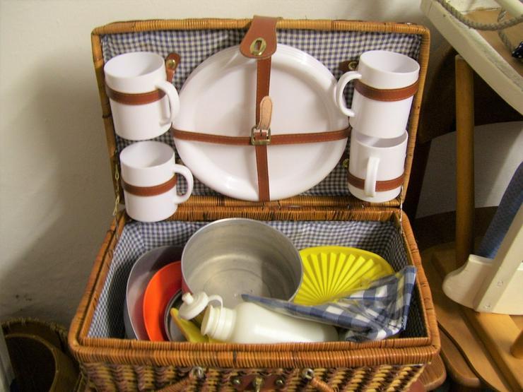 Bild 2: Orginal 50 Jahre Picknickkorb mit 4 Teil Servcf
