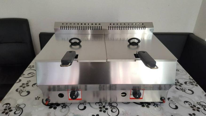 Bild 4: Friteuse Gas Doppelfriteuse 2x8L