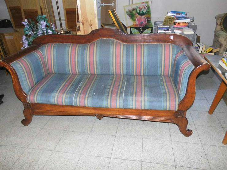 Bild 2: Antikes Biedermeier Sofa 1850 / antike Couch /