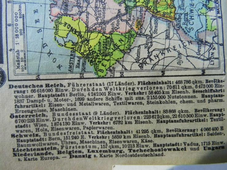 Bild 4: Antiker Westentaschenatlas der Erde um 1935 /