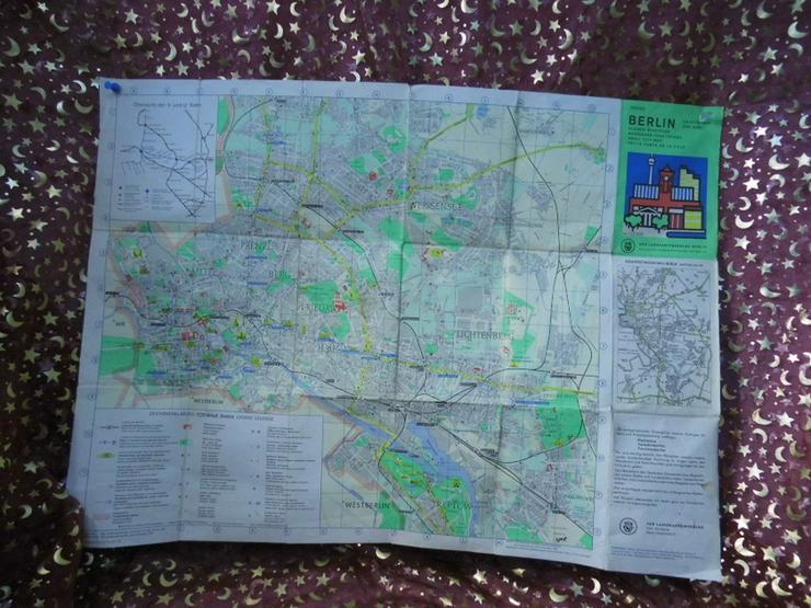 Alter Stadtplan von Berlin Hauptstadt der DDR