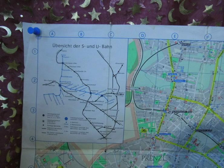 Bild 2: Alter Stadtplan von Berlin Hauptstadt der DDR