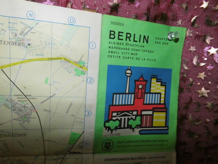 Bild 4: Alter Stadtplan von Berlin Hauptstadt der DDR