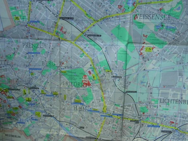 Bild 6: Alter Stadtplan von Berlin Hauptstadt der DDR