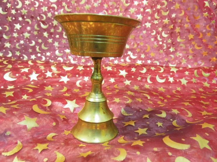 Bild 4: Antiker kleiner Kerzenhalter Messing / Kerzenl
