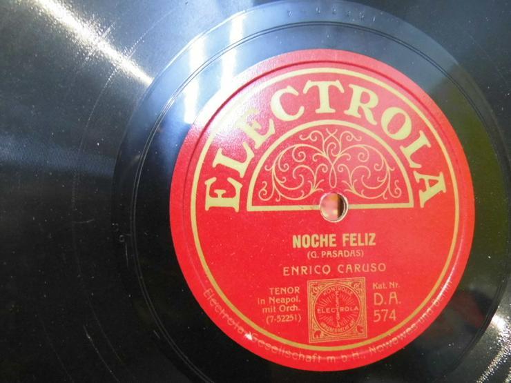 Bild 2: Alte Electrola Schellackplatte, Enrico Caruso