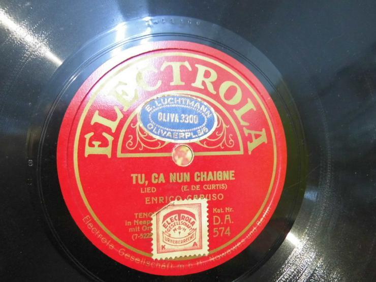 Bild 3: Alte Electrola Schellackplatte, Enrico Caruso