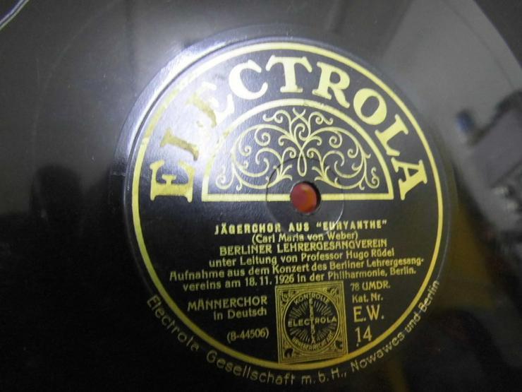 Bild 3: Alte Electrola Schellackplatte, Jägerchor aus