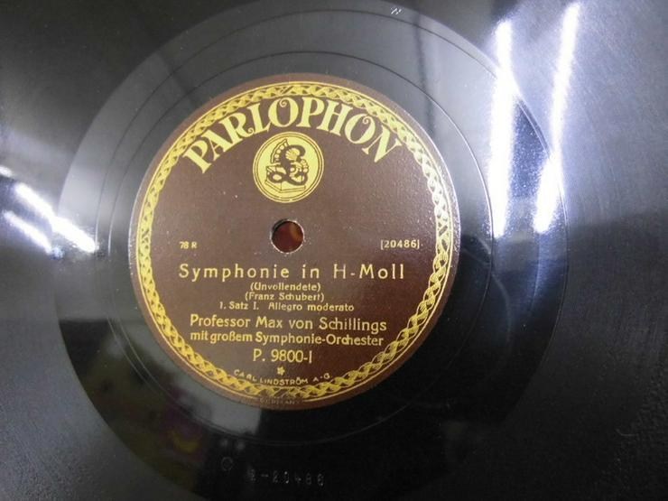 Bild 2: Alte Parlophon Schellackplatte, Symphonie in H